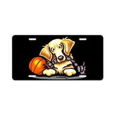 Golden Retriever Player Aluminum License Plate