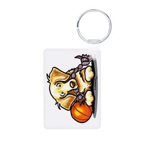 Golden Retriever Player Aluminum Photo Keychain