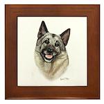 Elkhound Framed Tile