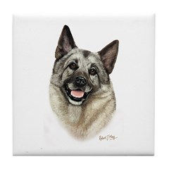 Elkhound Tile Coaster