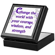 Courage, Wisdom and Strength Keepsake Box