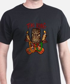 The Tiki King crossed Ukes Logo. T-Shirt