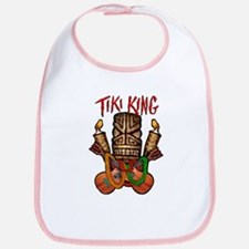 The Tiki King crossed Ukes Logo. Bib