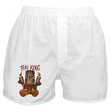 The Tiki King crossed Ukes Logo. Boxer Shorts