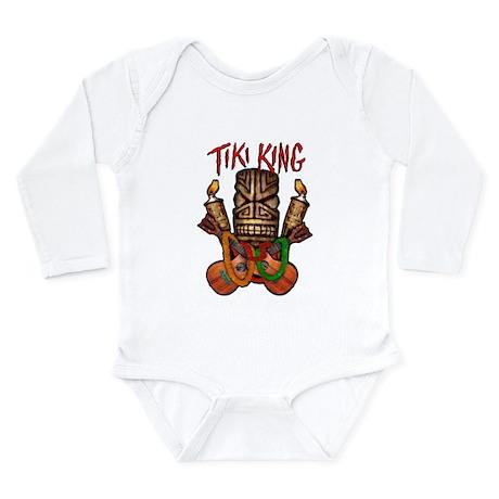 The Tiki King crossed Ukes Logo. Long Sleeve Infan