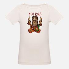 The Tiki King crossed Ukes Logo. Tee