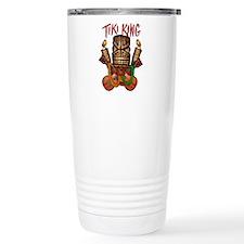 The Tiki King crossed Ukes Logo Travel Mug