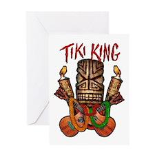 The Tiki King crossed Ukes Logo Greeting Card