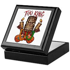 The Tiki King crossed Ukes Logo Keepsake Box