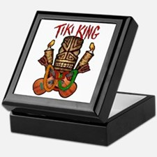 The Tiki King crossed Ukes Logo Keepsake Box