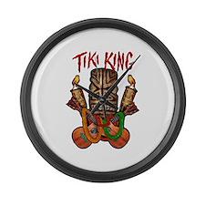 The Tiki King crossed Ukes Logo Large Wall Clock