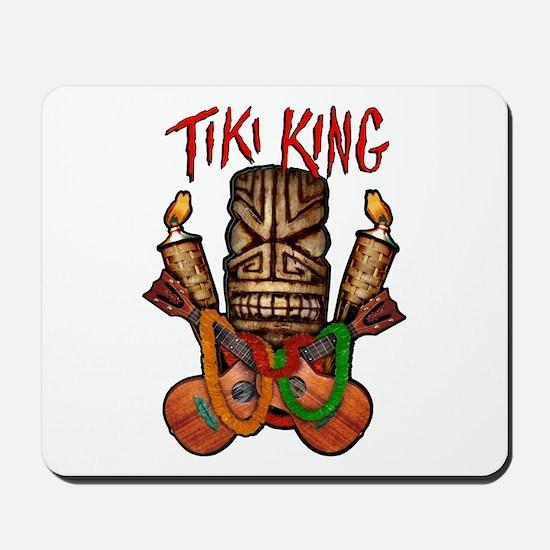 The Tiki King crossed Ukes Logo Mousepad