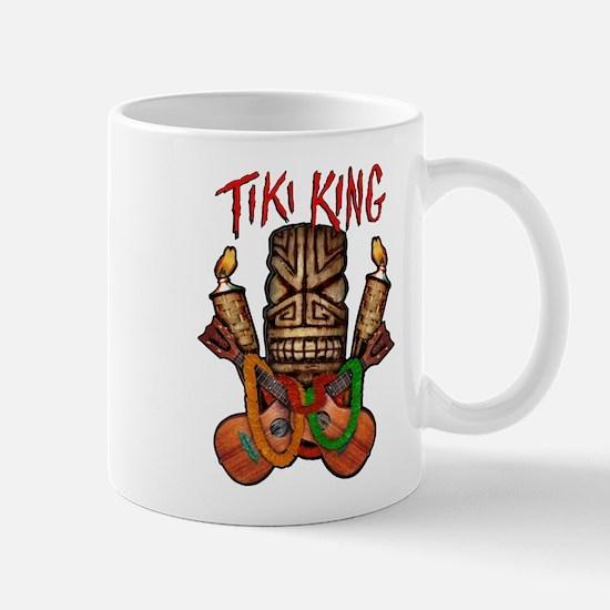 The Tiki King crossed Ukes Logo Mug