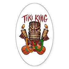 The Tiki King crossed Ukes Logo Decal