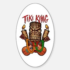 The Tiki King crossed Ukes Logo Sticker (Oval)