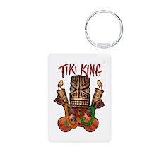 Tiki King crossed Ukes Keychains