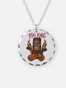 Tiki King crossed Ukes Necklace