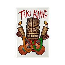 Tiki King crossed Ukes Rectangle Magnet