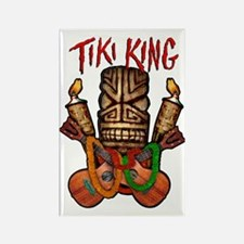 Tiki King crossed Ukes Rectangle Magnet