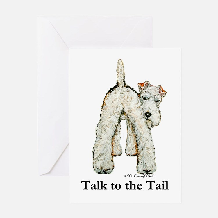 Wire Fox Terrier Tail WFT Greeting Card