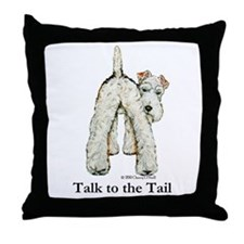 Wire Fox Terrier Tail WFT Throw Pillow