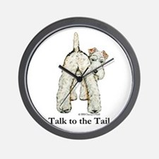 Wire Fox Terrier Tail WFT Wall Clock