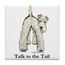 Wire Fox Terrier Tail WFT Tile Coaster