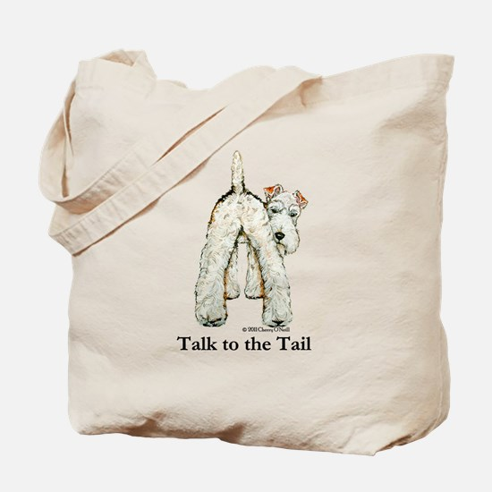 Wire Fox Terrier Tail WFT Tote Bag