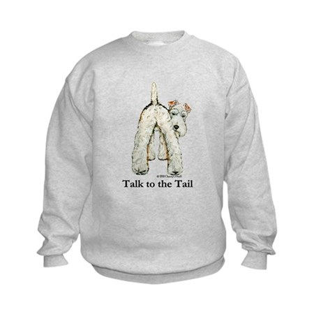 Wire Fox Terrier Tail WFT Kids Sweatshirt