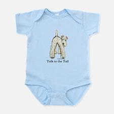 Wire Fox Terrier Tail WFT Infant Bodysuit