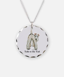 Wire Fox Terrier Tail WFT Necklace