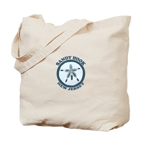 Sandy Hook NJ - Sand Dollar Design Tote Bag