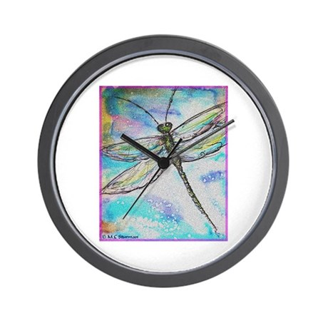 Dragonfly, colorful, Wall Clock