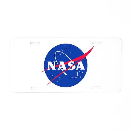 NASA Aluminum License Plate