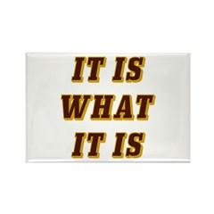 It Is What It Is Brown Rectangle Magnet (10 pack)