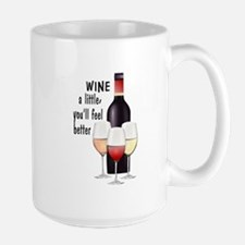 Wine a little Large Mug