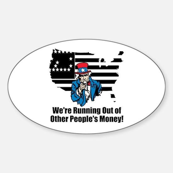 Cool National debt Sticker (Oval)