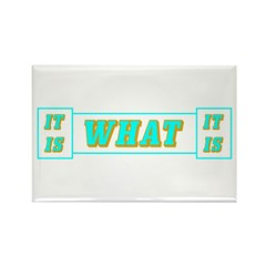 It Is What It Is Cyan Rectangle Magnet (100 pack)