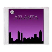 Atlanta Nites Throw Blanket