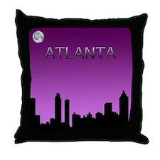 Atlanta Nites Throw Pillow