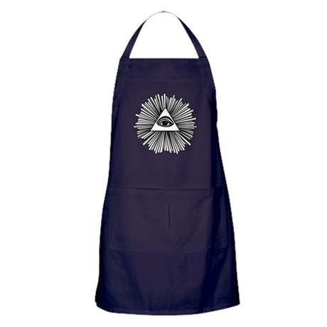 All seeing eye Apron (dark)