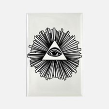 All seeing eye Rectangle Magnet