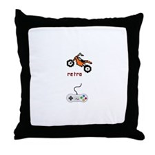 Motorbike Game Throw Pillow