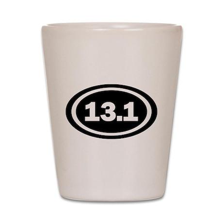 13.1 Black Oval True Shot Glass