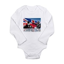 Scissors Beat Paper Long Sleeve Infant Bodysuit
