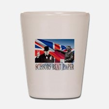 Scissors Beat Paper Shot Glass