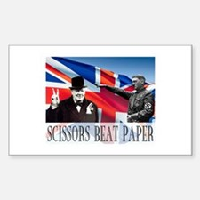 Scissors Beat Paper Decal