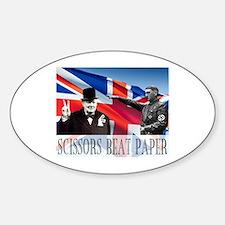 Scissors Beat Paper Decal