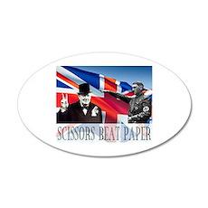 Scissors Beat Paper 22x14 Oval Wall Peel