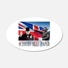 Scissors Beat Paper 22x14 Oval Wall Peel